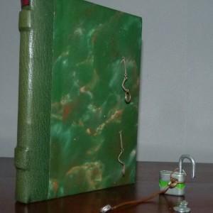 Demi-cuir vert avec fermoirs (chaines+tringleries+cadenas)