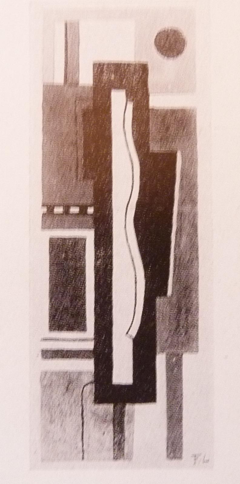 Reproduction en noir et blanc d'un tebleau de Fernand Léger de .