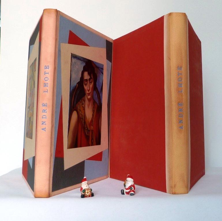 André Lhote commente 48 reproductions de ses tableaux dans ce livre, chemise