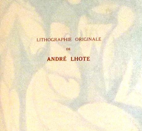 André Lhote commente 48 reproductions de ses tableaux dans ce livre, annonce litho.