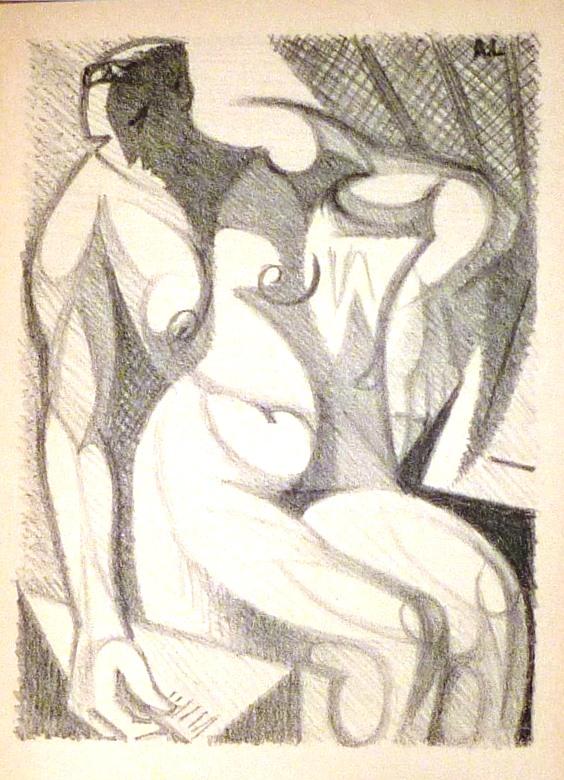 André Lhote commente 48 reproductions de ses tableaux dans ce livre, luthographie originale.
