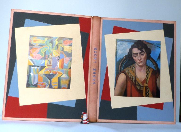 André Lhote commente 48 reproductions de ses tableaux dans ce livre, ici plats ouverts.