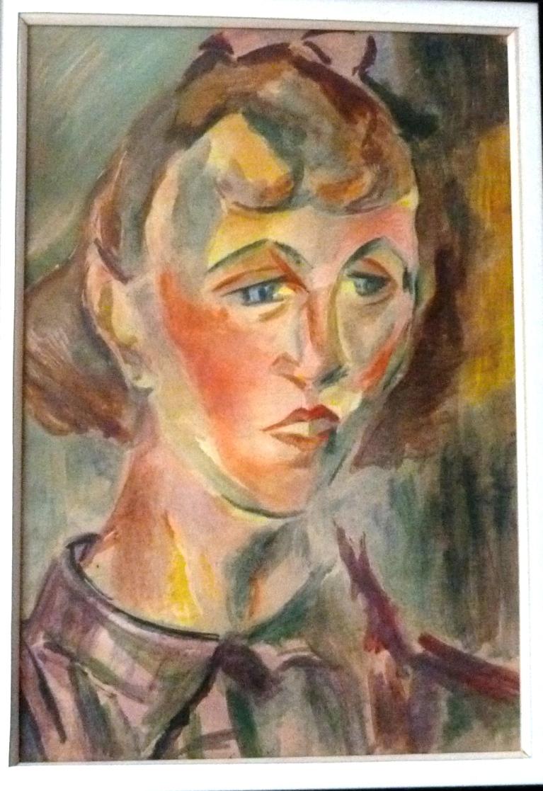 Etude au fusain pour un tableaud'André Lhote représentant Bernadette Louis.