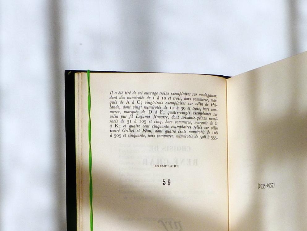 Tirage de l'édition originale.