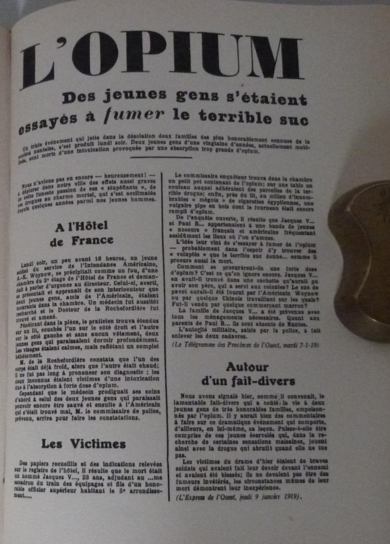 Extaits d'articles de presse sur la mort de J.Vaché