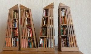Bibliothèque_Minis-livres_bois_pyramides_3