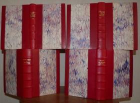 Quatre romans de la NRF, demi-reliure à bandes
