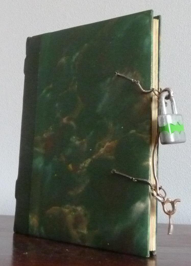 Plein cuir vert , ouverture protégée par un cadenas