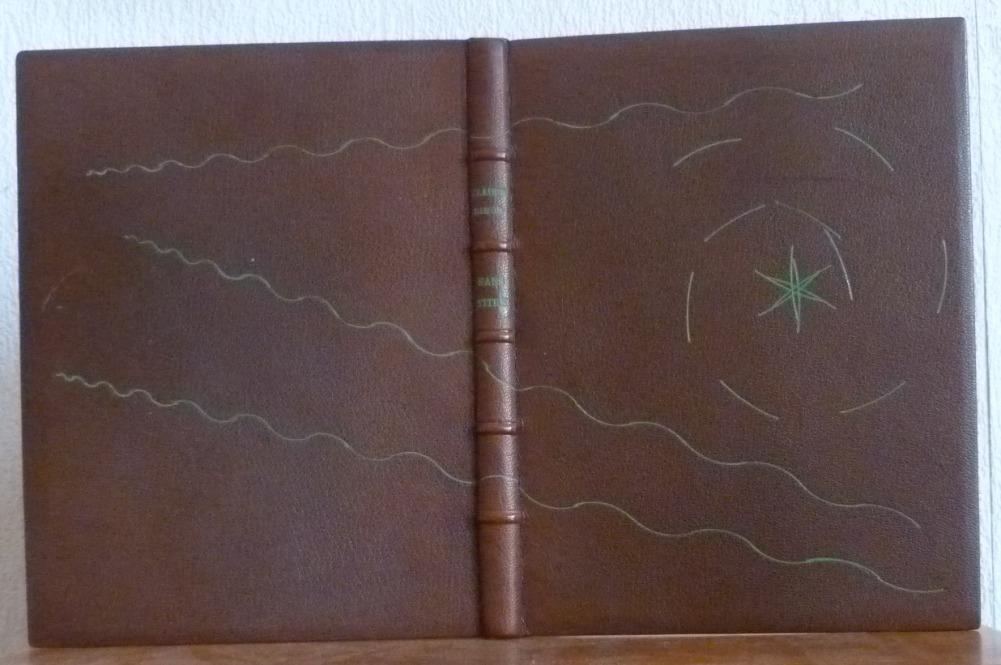 pein cui marron, titre et décor oeser vert, doublure des plats endoublure de chagrin vert, listelsrouge foncé