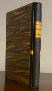 -reliure-art_Georges-Girard_le-parfait-secrétaire-des-grands-hommes_Michel Chasles_fac-similé_plein-cuir-noir_MosaÏques- de -formules-de-Chasles-cuir-jaune_2