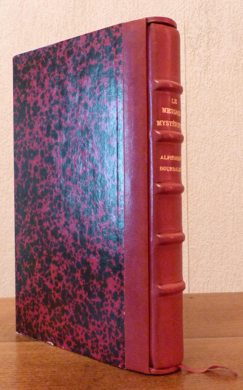 Plein-cuir bordeaux, cuir basane, cinq nerfs, gardes en soie peinte