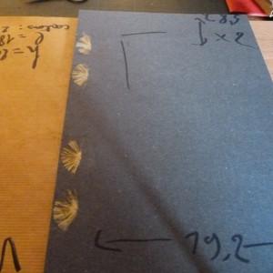 Etat du livre avant le choix du cuir. Collage des ficelles.