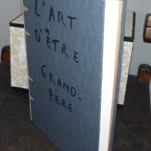 Etat du livre avant la pose de la tranchefile chapiteau