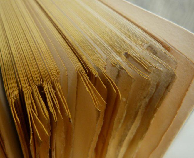 Livre doré et rogné en tête sur témoins, plein-cuir noir,grands caissons et fleurons dorés en coins, sur chaque plat, gardes en soie (moire) grise, listels bleus, tranchefile chapiteau bicolore noire et blanche, boite. Exemplaire sur Whatman.