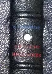 Titre tricolore. Plein cuir bleu de cet ouvrage patriotique, titre, mosaïque, tranchefile et gardes tricolores (bleu-blanc-rouge)