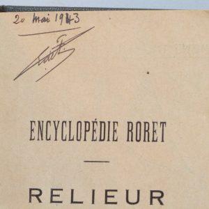 ex-libris-encyclopedie-roret-relieur-plein-cuir-gris