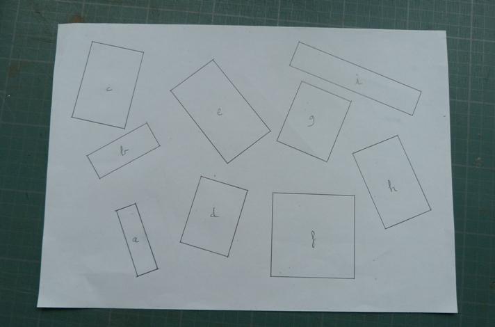 Test pour reconnaitre, dans 9 rectangles, le rectangle d'or.