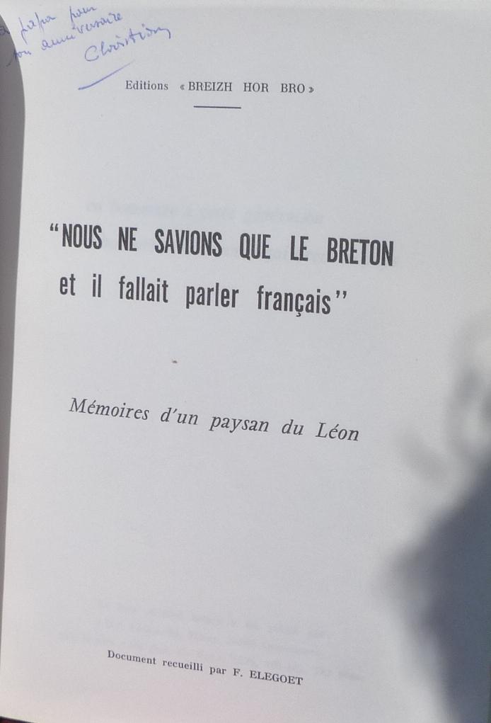 enoncé du problème principal des paysans bretons au début du 20ième siècle.