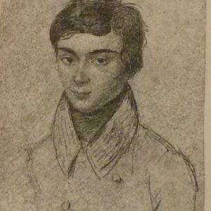 Portrait du Mathématicien Evariste Galois.