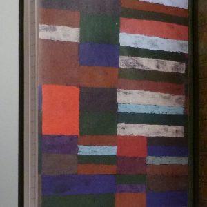 Tableau de Klee, partie gauche des gardes postérieures