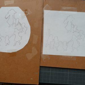 Nouveau dessin, plus détaillé, de la ronde des enfants.