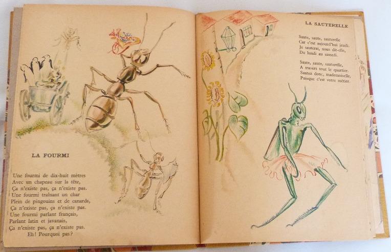 Trente chantefables de Robert Desnos : La fourmi et la sauterelle