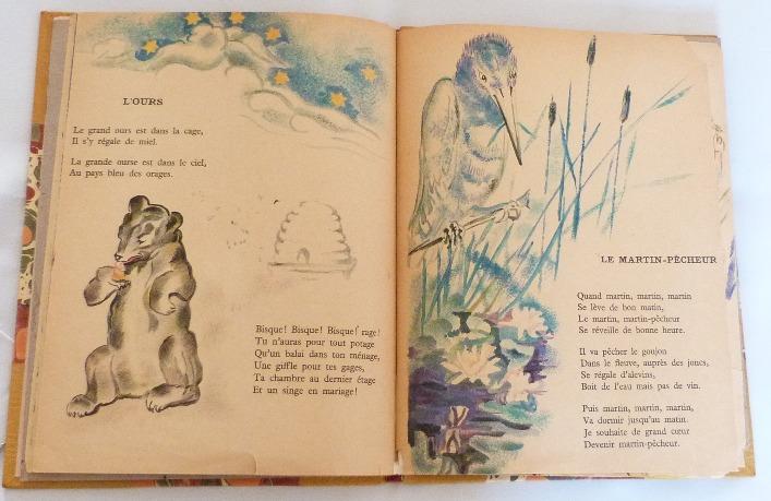 Trente chantefables de Robert Desnos : L'ours et le martin-pêcheur