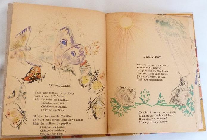 Trente chantefables de Robert Desnos : le papillon et l'escargot