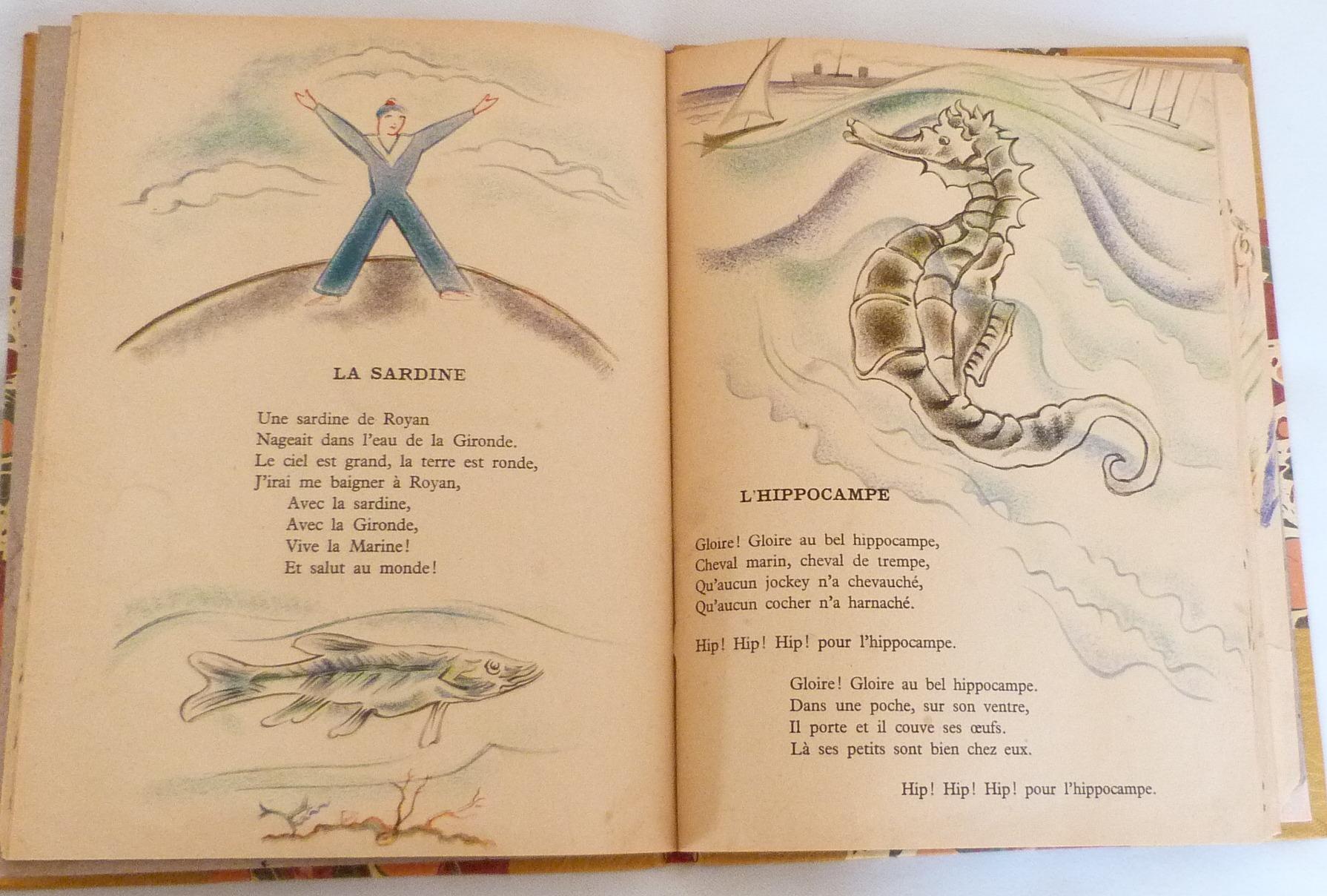 Trente chantefables de Robert Desnos : La sardine et l'hippocampe