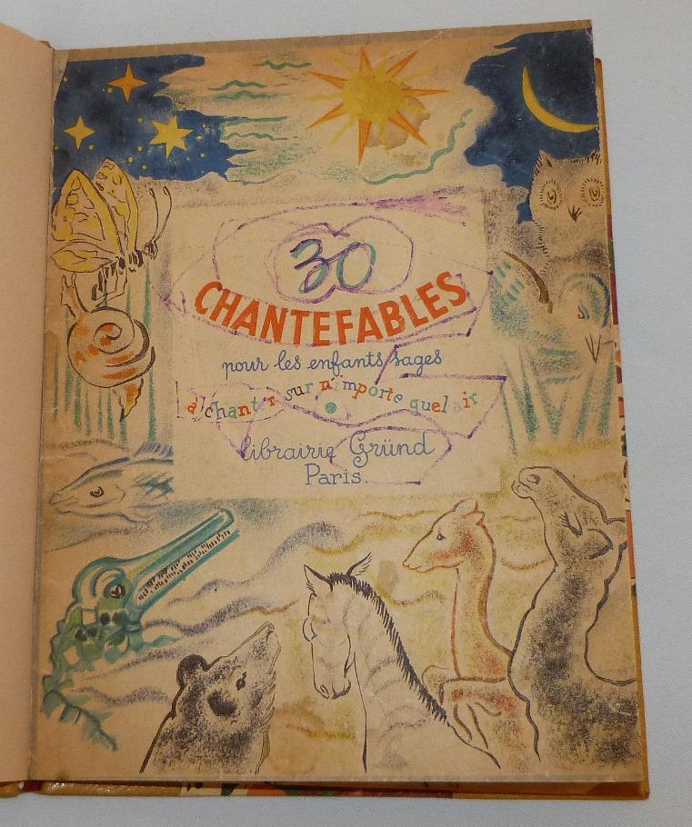 Une de couverture du livre : Chantefable de Robert Desnos