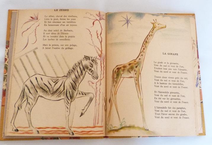 Trente chantefables de Robert Desnos : Le zèbre et la girafe