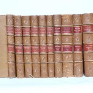 Les dix tomes des cahiers rouges, 2 plats ouverts