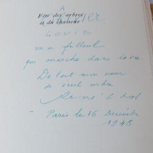 Dédicace de René Char