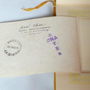 Verso du pneumatique envoyé par René char