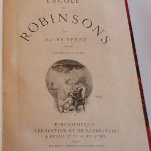 Page de titre de l'école des Robinsons de Jules Verne