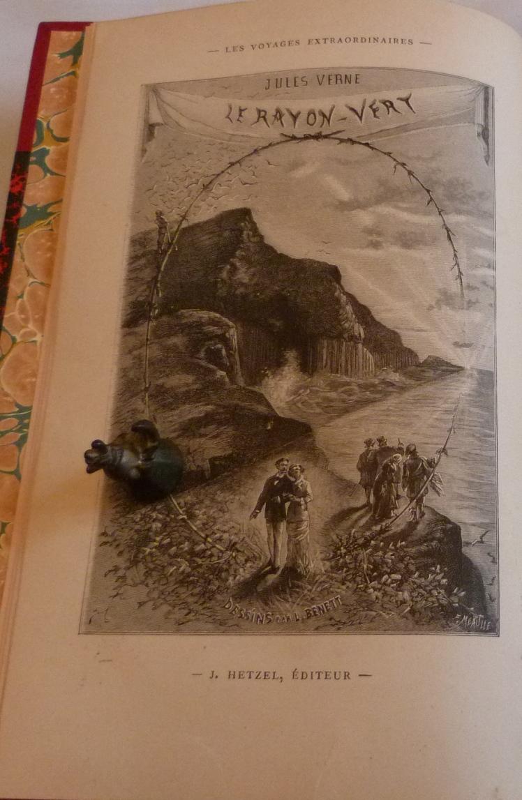 "Frontispice du ""rayon vert"" de Jules Verne"""