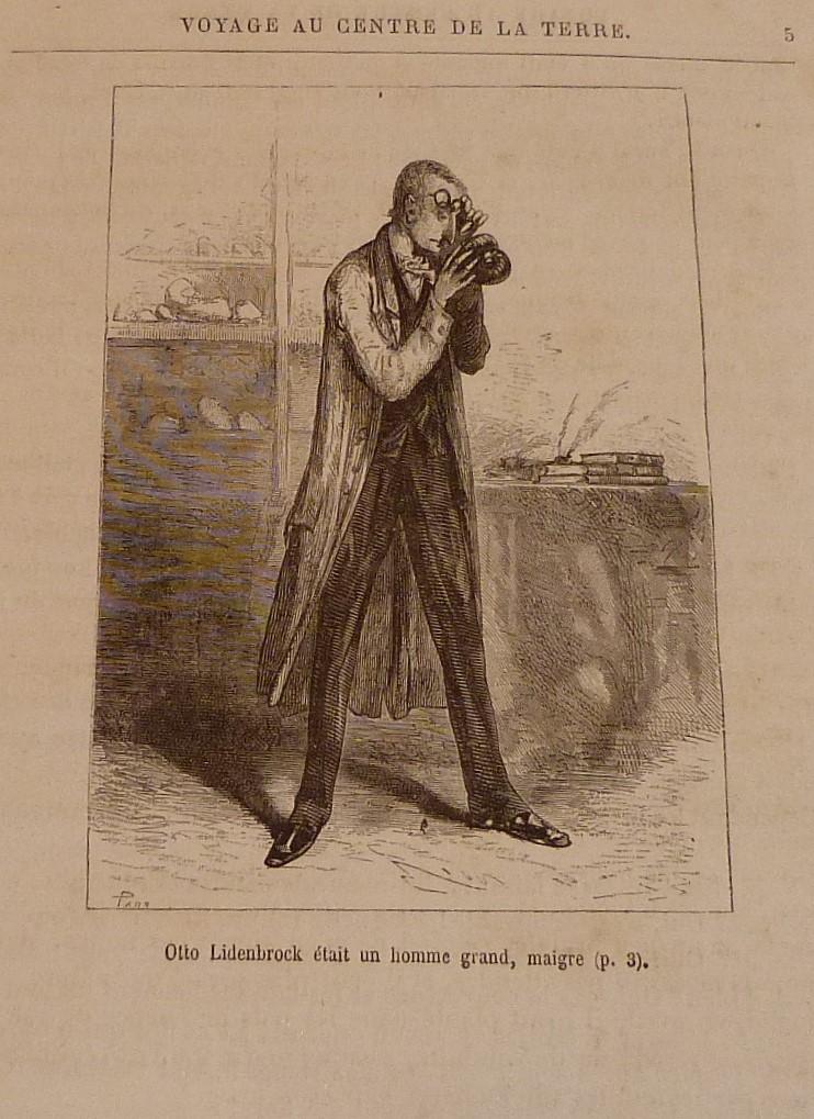 """Lidenbrock minéralogiste de """"Voyage au centre de la terre"""" de Jules Verne"""