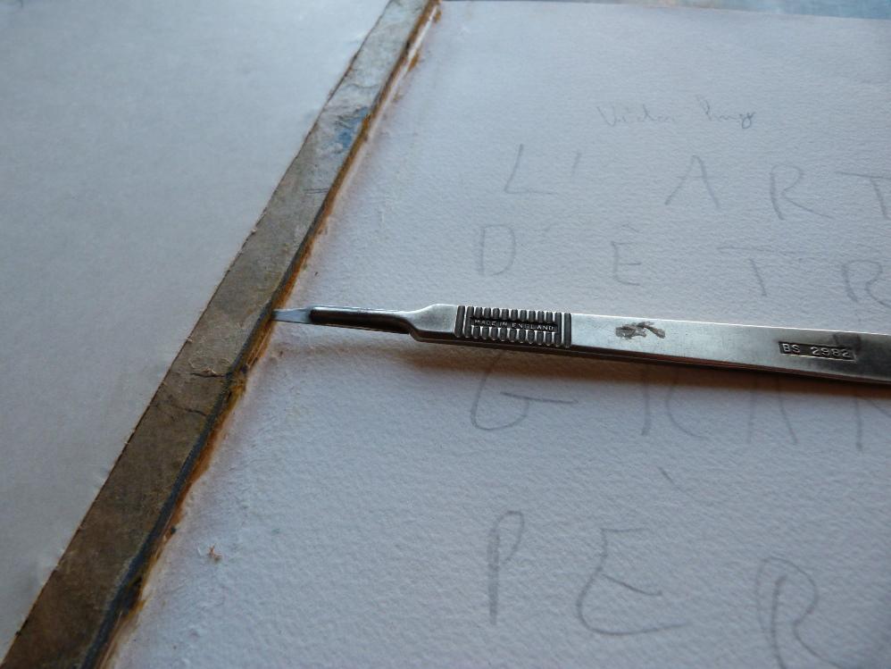 utilisation du scalpel
