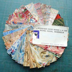 Catalogue de papier marbré de Michel Duval