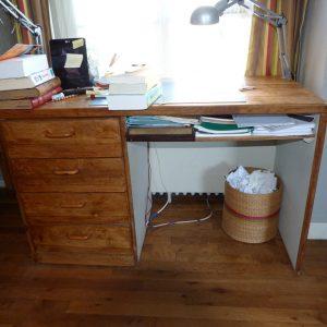 Recension de mon matériel de reliure : bureau.
