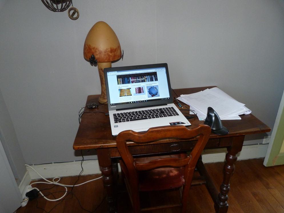 Recension de mon matériel de reliure : ordinateur
