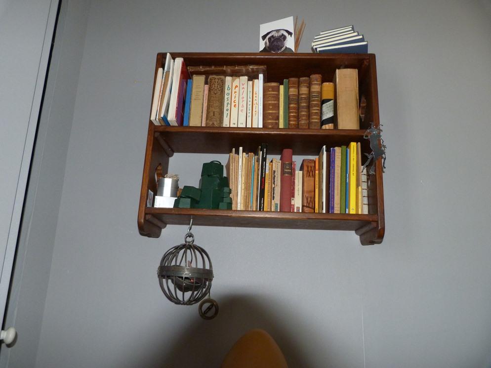Recension de mon matériel de reliure, petite bibliothèque.