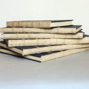 reliures en cours de réalisation : 6 carnets