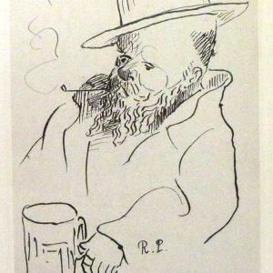 La muse gaillarde de Raoul Ponchon, autoportrait de l'auteur en frontisoice.