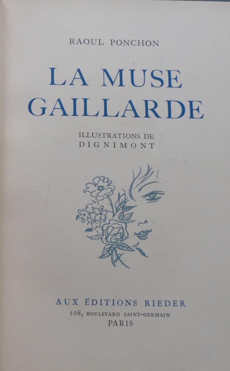 La muse gaillarde de Raoul Ponchon, page de titre ...