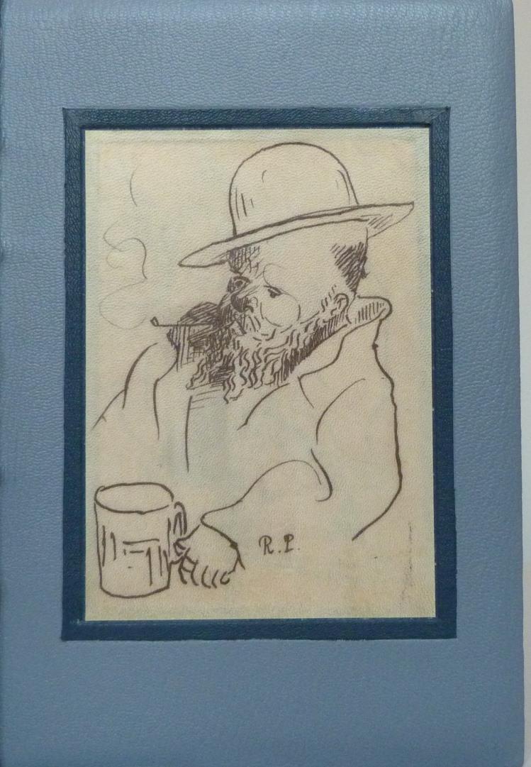 La muse gaillarde de Raoul Ponchon, auto-portrait photocopié sur parchemin