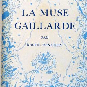 La muse gaillarde de Raoul Ponchon, une de couverture