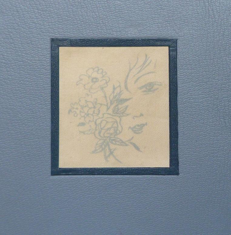 Incrustation d'un parchemin décoré à la photocopieuse, petite incrustation finie