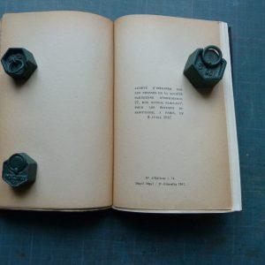 La corde raide de Claude Simon, achevé d'imprimer