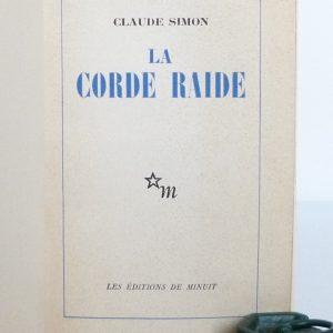 La corde raide de Claude Simon, une de couverture